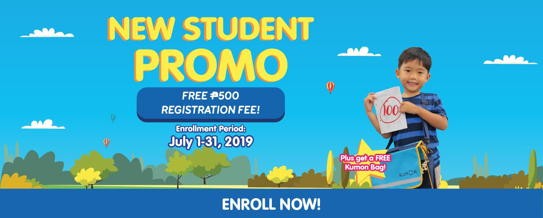 Kumon Philippines 2019 New Student Promo Web Banner
